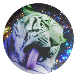 Rainbow Tiger Party Plate
