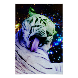 Rainbow Tiger Perfect Poster