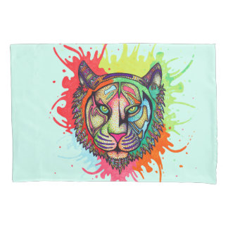 Rainbow Tiger Pillowcase