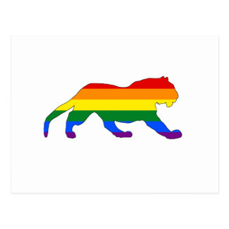 Rainbow Tiger Postcard