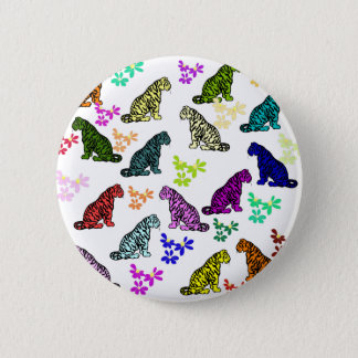 Rainbow Tigers 2 Inch Round Button