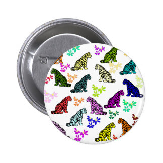 Rainbow Tigers 2 Inch Round Button