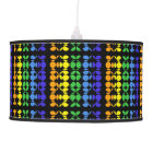 Rainbow Tiki Bar Abstract Pattern Pendant Lamp