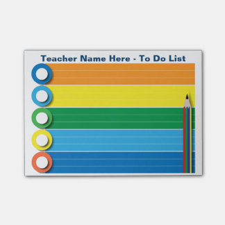 Rainbow To Do List - Personalized Post-it Notes
