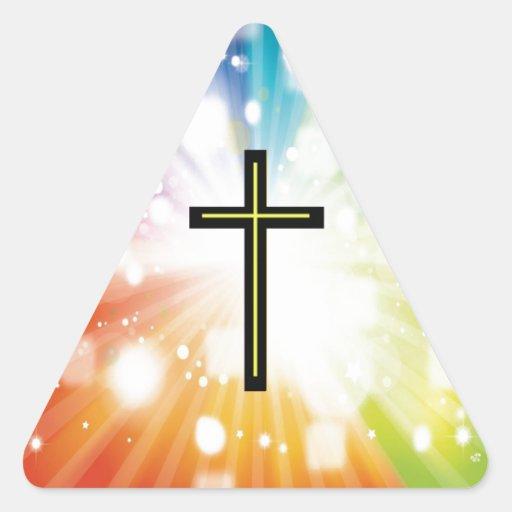 Rainbow to infinity. triangle sticker