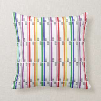 Rainbow Toothbrushes Pillow