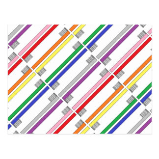 Rainbow Toothbrushes Postcard