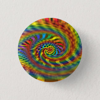 Rainbow Tornado 1 Inch Round Button