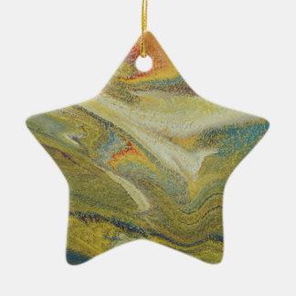 Rainbow Tornado Ceramic Star Ornament