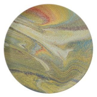 Rainbow Tornado Plate
