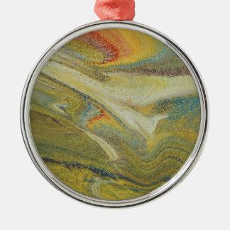 Rainbow Tornado Silver-Colored Round Ornament