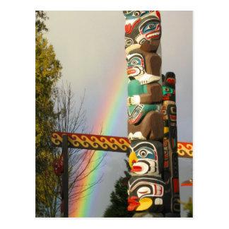 Rainbow Totem Postcard