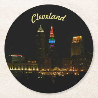 Rainbow Tower Cleveland OH Paper Coaster