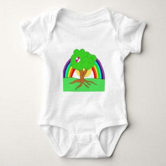 Rainbow tree Baby T Baby Bodysuit