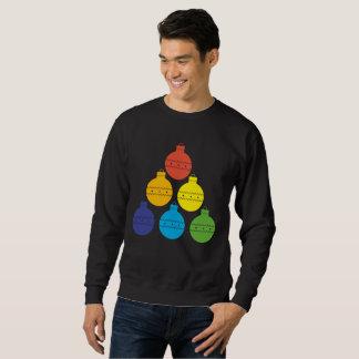 Rainbow Tree of Christmas Balls Holiday Sweater
