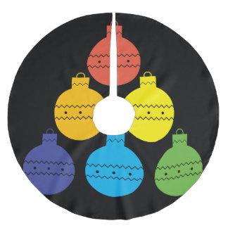 Rainbow Tree of Christmas Balls Tree Skirt