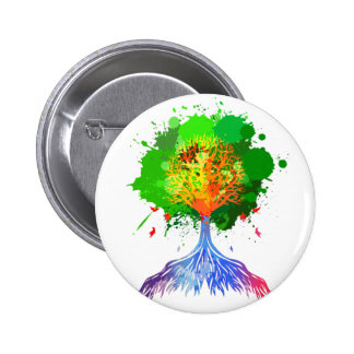 Rainbow Tree of Life 2 Inch Round Button