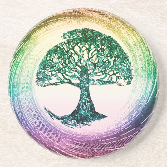 Rainbow Tree of Life by Amelia Carrie Coaster