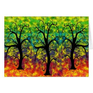 Rainbow Tree of Life Card