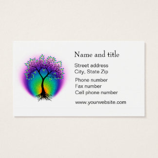 Rainbow Tree of Life Connect with Your Customer Business Card