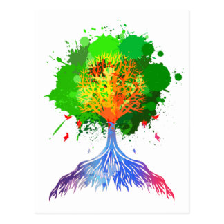 Rainbow Tree of Life Postcard