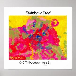 Rainbow Tree Poster