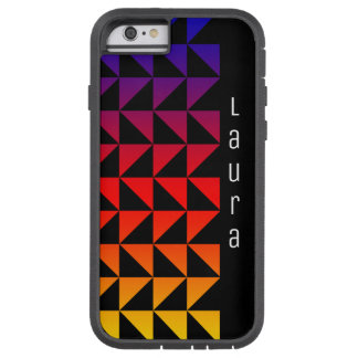 Rainbow Triangle Pattern with Name Tough Xtreme iPhone 6 Case