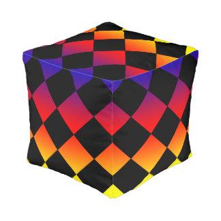 Rainbow Triangles Full Print Pouffe Pouf