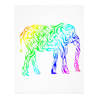 Rainbow Tribal Elephant Letterhead Design