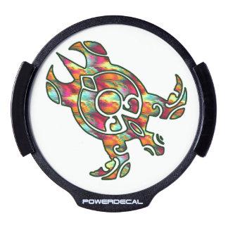 Rainbow Tribal Sea Turtle Honu LED Car Decal