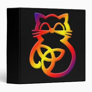 Rainbow Trinity Knot Celtic Cat Binder