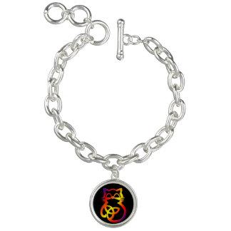 Rainbow Trinity Knot Celtic Cat Bracelet