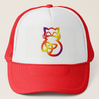 Rainbow Trinity Knot Celtic Cat Hat