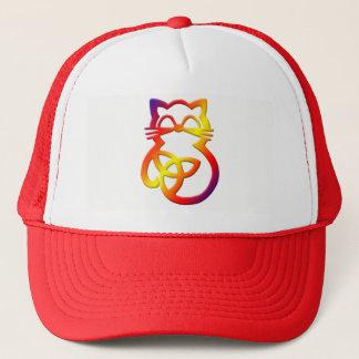 Rainbow Trinity Knot Celtic Cat Hat