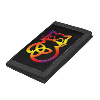 Rainbow Trinity Knot Celtic Cat Wallet