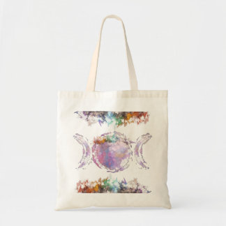 rainbow trinity moon tote bag