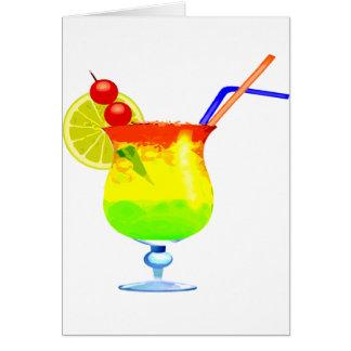 Rainbow Tropical Drink Card