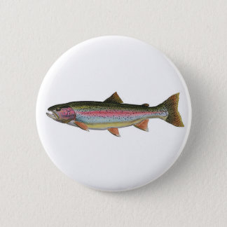 Rainbow Trout 2 Inch Round Button