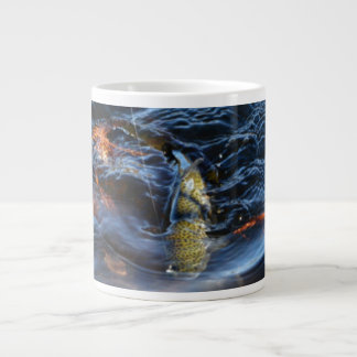 Rainbow Trout Below The Surface Large Coffee Mug