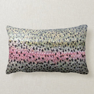 Rainbow Trout & Brown Trout Lumbar Pillow