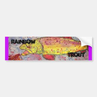 rainbow trout bumper sticker
