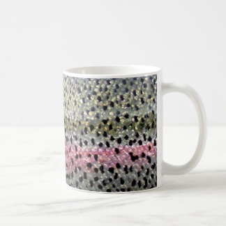 Rainbow Trout by PatternWear© Classic White Coffee Mug