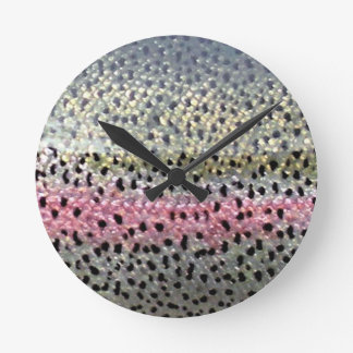 Rainbow Trout by PatternWear© Wall Clock