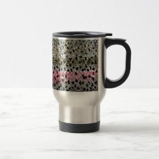 Rainbow Trout by PatternWear© Travel Mug