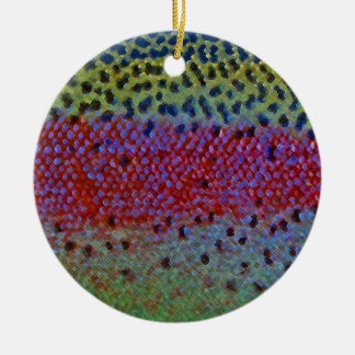 Rainbow Trout - Caddisfly Ornament