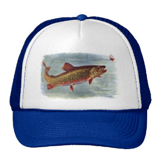 Rainbow Trout Chasing a Fly Lure Trucker Hat