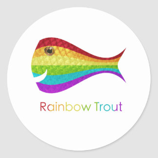 Rainbow Trout Classic Round Sticker