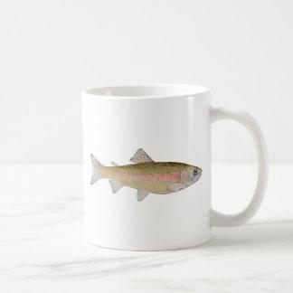 rainbow trout classic white coffee mug