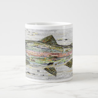 Rainbow Trout Collage Coffee Mug by C.E. White