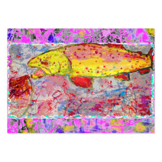 rainbow trout drip painting business card templates